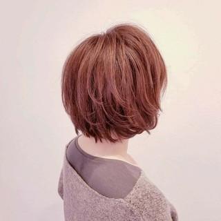 ショート ガーリー ボブ 大人かわいい ヘアスタイルや髪型の写真・画像