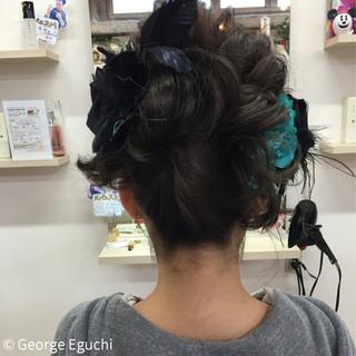 ショート ヘアアレンジ 成人式 謝恩会 ヘアスタイルや髪型の写真・画像