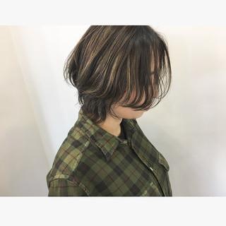 マッシュウルフ ショート 3Dハイライト ハイライト ヘアスタイルや髪型の写真・画像