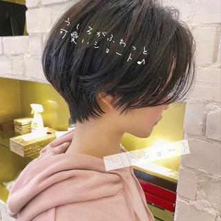 暗髪女子 ナチュラル ショートヘア デート ヘアスタイルや髪型の写真・画像