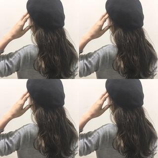ヘアアレンジ ロング ハイライト 暗髪 ヘアスタイルや髪型の写真・画像