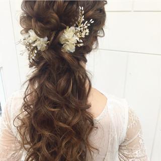 ヘアアレンジ 結婚式 パーティ エレガント ヘアスタイルや髪型の写真・画像