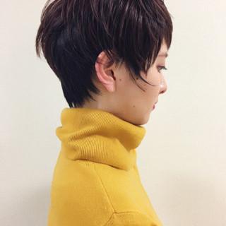 ショート ナチュラル ベリーショート 色気 ヘアスタイルや髪型の写真・画像