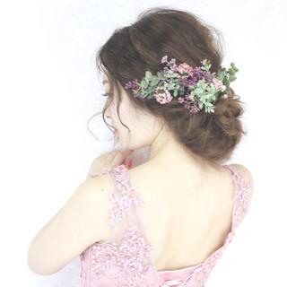 大人かわいい 花嫁 ヘアアレンジ 外国人風 ヘアスタイルや髪型の写真・画像