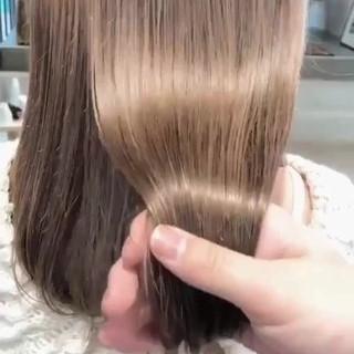 セミロング アンニュイほつれヘア ハイライト ダブルカラー ヘアスタイルや髪型の写真・画像