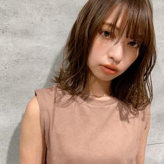 ナチュラル 鎖骨ミディアム かわいい ナチュラル可愛い ヘアスタイルや髪型の写真・画像