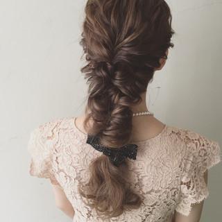 ロング 夏 結婚式 ゆるふわ ヘアスタイルや髪型の写真・画像