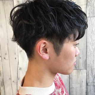 2ブロック メンズヘア ショート ストリート ヘアスタイルや髪型の写真・画像