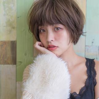 リラックス フェミニン ボブ 大人女子 ヘアスタイルや髪型の写真・画像