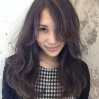 モード 黒髪 アッシュ 大人女子 ヘアスタイルや髪型の写真・画像