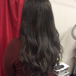 ストリート 外国人風カラー イルミナカラー ロング ヘアスタイルや髪型の写真・画像