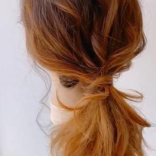 セミロング フェミニン ゆるナチュラル ゆるふわ ヘアスタイルや髪型の写真・画像