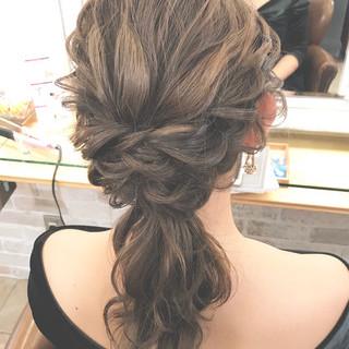 結婚式 簡単ヘアアレンジ エレガント デート ヘアスタイルや髪型の写真・画像