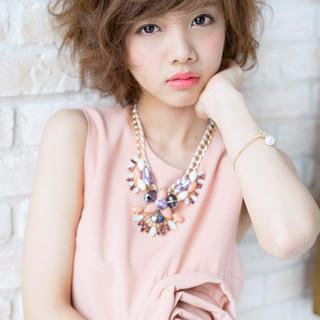 大人かわいい 外国人風 ショート ナチュラル ヘアスタイルや髪型の写真・画像