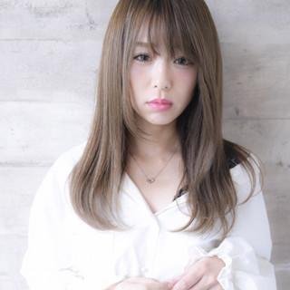 美髪 ロング ナチュラル ストレート ヘアスタイルや髪型の写真・画像