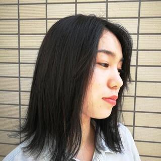 スモーキーカラー ナチュラル ヘアカラー ミディアム ヘアスタイルや髪型の写真・画像
