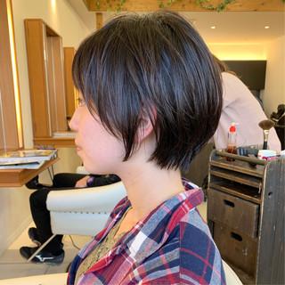ふんわり ナチュラル 可愛い ふんわりショート ヘアスタイルや髪型の写真・画像 ヘアスタイルや髪型の写真・画像