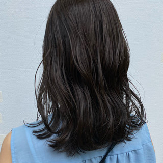大人かわいい ミディアム 大人ミディアム ナチュラル ヘアスタイルや髪型の写真・画像