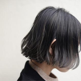 ニュアンス 黒髪 ボブ ハイライト ヘアスタイルや髪型の写真・画像 ヘアスタイルや髪型の写真・画像