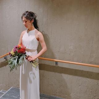 結婚式ヘアアレンジ ブライダル エレガント ポニーテール ヘアスタイルや髪型の写真・画像