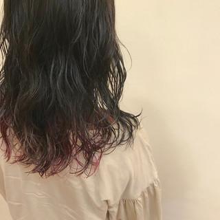 ミディアム ナチュラル 簡単 前髪あり ヘアスタイルや髪型の写真・画像