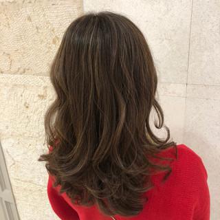 コンサバ セミロング ヘアスタイルや髪型の写真・画像