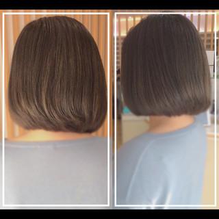 ボブ 髪質改善カラー 社会人の味方 髪質改善 ヘアスタイルや髪型の写真・画像