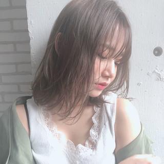 結婚式 ヘアアレンジ ナチュラル ミディアム ヘアスタイルや髪型の写真・画像 ヘアスタイルや髪型の写真・画像