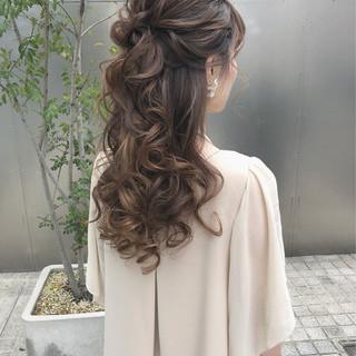大人かわいい エレガント お呼ばれヘア ロング ヘアスタイルや髪型の写真・画像