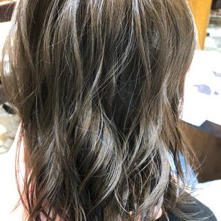 デート ナチュラル セミロング アンニュイほつれヘア ヘアスタイルや髪型の写真・画像