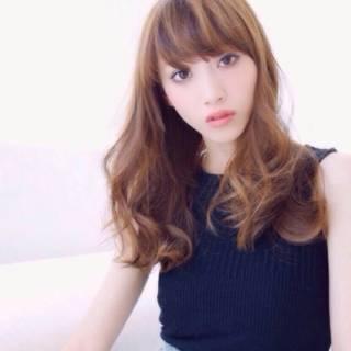 モード ウェーブ ゆるふわ ロング ヘアスタイルや髪型の写真・画像