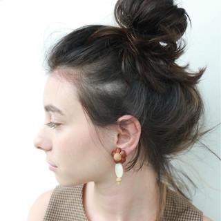 ミディアム ハイライト 秋 ショート ヘアスタイルや髪型の写真・画像