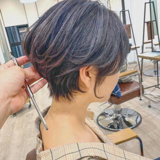 簡単スタイリング スタイリング動画 ナチュラル ショートパーマ ヘアスタイルや髪型の写真・画像