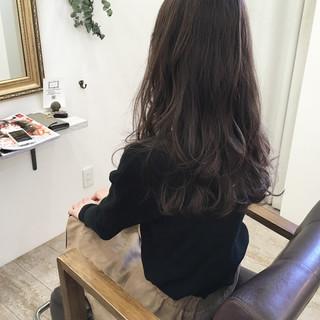 ロング ハイライト ゆるふわ 秋 ヘアスタイルや髪型の写真・画像