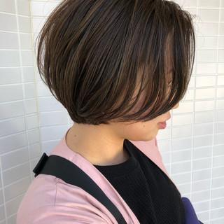 マッシュショート 小顔ショート ナチュラル ショートヘア ヘアスタイルや髪型の写真・画像
