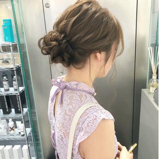 ヘアアレンジ シニヨン 結婚式 成人式 ヘアスタイルや髪型の写真・画像