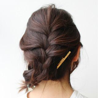 大人かわいい 春 セミロング 簡単ヘアアレンジ ヘアスタイルや髪型の写真・画像