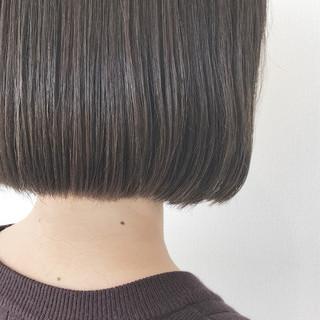 ヌーディベージュ ナチュラル ハイライト ボブ ヘアスタイルや髪型の写真・画像