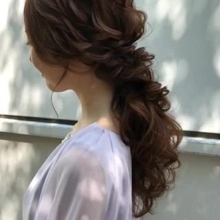 ロング 大人かわいい ゆるナチュラル アンニュイほつれヘア ヘアスタイルや髪型の写真・画像