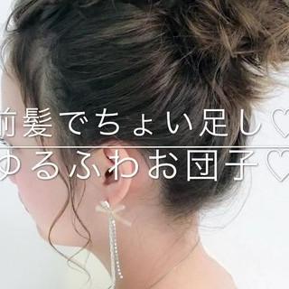 リラックス 女子会 フェミニン ヘアアレンジ ヘアスタイルや髪型の写真・画像