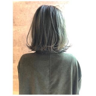 ボブ ナチュラル 外ハネ 大人女子 ヘアスタイルや髪型の写真・画像