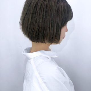 簡単スタイリング ナチュラル オフィス ボブ ヘアスタイルや髪型の写真・画像