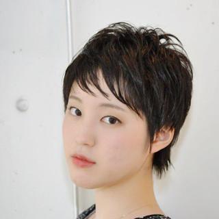 小顔 似合わせ かっこいい ショート ヘアスタイルや髪型の写真・画像