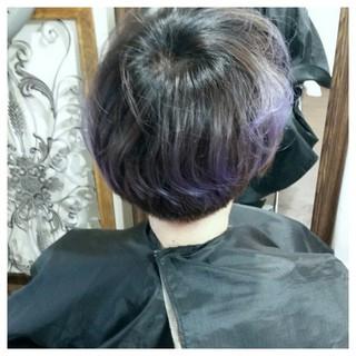 ボブ ストリート ヘアアレンジ 暗髪 ヘアスタイルや髪型の写真・画像