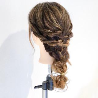 エレガント ヘアアレンジ 梅雨 ロング ヘアスタイルや髪型の写真・画像