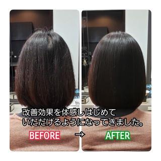 トリートメント 髪質改善 髪の病院 ボブ ヘアスタイルや髪型の写真・画像