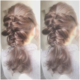 ゆるふわ フェミニン ヘアアレンジ ガーリー ヘアスタイルや髪型の写真・画像 ヘアスタイルや髪型の写真・画像
