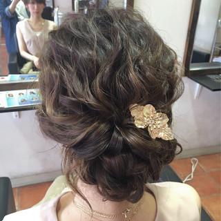 ロング ゆるふわ 夏 結婚式 ヘアスタイルや髪型の写真・画像
