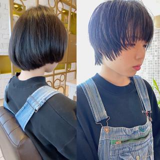 切りっぱなしボブ ウルフカット ショートボブ ショートヘア ヘアスタイルや髪型の写真・画像