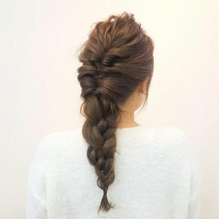 大人女子 簡単ヘアアレンジ ロング 外国人風 ヘアスタイルや髪型の写真・画像